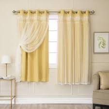 Yellow Drapery Yellow U0026 Gold Curtains U0026 Drapes You U0027ll Love Wayfair