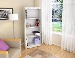amazon com sonax hawthorn 60 inch tall bookcase frost white