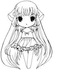 chibi coloring pages u2013 world of craft
