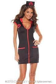 Nurse Costume Halloween 4 Pc Night Nurse Costume Amiclubwear Costume Store