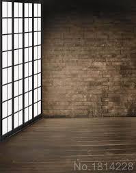 Wedding Backdrop Lattice 3x5ft Indoor Brick Wall Poem Wooden Floor Lattice Window Wedding