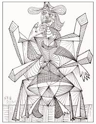 drawing by picasso 1938 art coloring pages for kids to print u0026 color