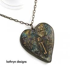 heart necklace with key images Heart necklace with key charm open locket vintage inspired jpg