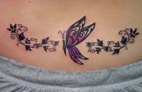 v butterfly lower back design for ideas