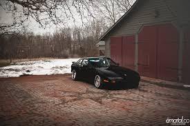 slammed porsche 944 porsche 944 black borbet type a rides styling