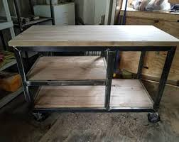 metal island kitchen industrial kitchen island etsy