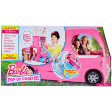 barbie toy cars barbie pop up camper playset walmart com