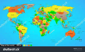 The World Political Map by Political Map World Illustration Stock Illustration 162616583
