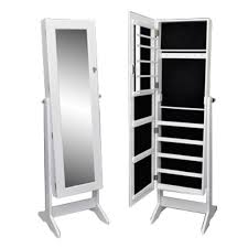 Jewelry Cabinet Mirror Standing Jewelry Cabinet With Mirror Amazon Co Uk Kitchen U0026 Home