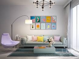 chic living room design ideas use an art decor to amplify the