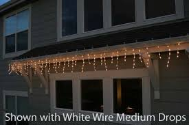 pro grade connect 5 white wire icicle lights drops