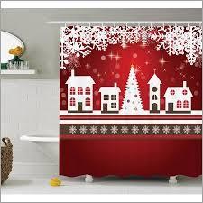 Shower Curtains Unique Winter Themed Shower Curtains Unique Christmas Decorations