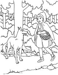 red riding hood meet wolf coloring pages batch coloring