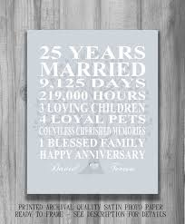 25 year anniversary gift ideas 25th wedding anniversary gift ideas for couples best 25 25th