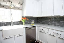 white kitchen cabinets backsplash ideas gray and white subway tile lovely ideas grey subway tile attractive