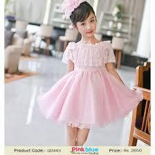 Wedding Dresses For Kids Pretty Pink Designer Casual Party Dress Online For Kids