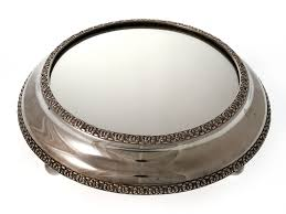 cake plateau silver plated antique mirror plateau cake stand c 1870