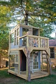 Backyard House Ideas Amazing Backyard Treehouse Ideas Two Floor Tree House Design