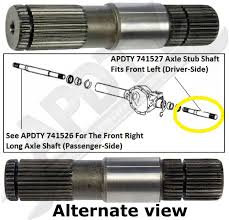 2003 dodge dakota front differential apdty 741527 front intermediate axle shaft stub shaft front