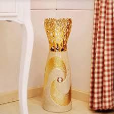 Large Decorative Floor Vases Large Floor Vases Tall Floor Vase Wood Height 75cm White Mango