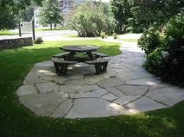 flagstone patio with grass u2014 optimizing home decor ideas