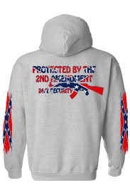2nd Amendment Flag Men U0027s Rebel Flag Zip Up Hoodie Protected By The 2nd Amendment