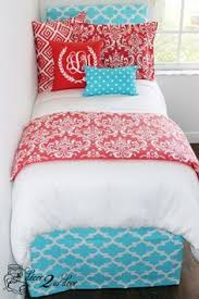 Pink And Blue Girls Bedding by Loving This Tribal Teal And Tangerine Dorm Room Monogrammed Dorm