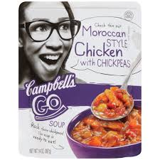 Morroco Style by Campbell U0027s Go Moroccan Style Chicken With Chickpeas Soup 14 Oz