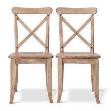 Farm House Dining Chairs Harvester X Back Dining Chair Hardwood Set Of 2 Beekman 1802