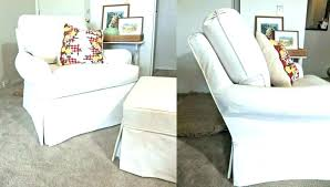 chair and a half slipcovers chair and ottoman slipcover excellent ideas chair and a half