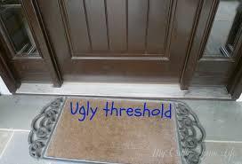 Wooden Exterior Door Threshold Paint The Threshold Front Doors Doors And Decorating