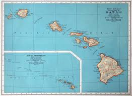 Vintage United States Map by Map Of Hawaii State Hawaii State Usa Maps Of The Usa Maps