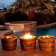 Wine Barrel Fire Pit Table by Wine Barrel Fire Pit Weathered Woodlanddirect Com Outdoor