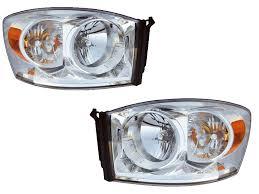 2006 dodge ram 2500 headlight bulb 2006 2008 dodge ram 1500 2007 2009 2500 3500 chrome headlights set