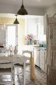 pink vintage shabby chic kitchen shabby chic style with dining