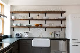 open kitchen cabinets should you use open shelves in the kitchen