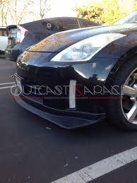 Nissan 350z Nismo Front Bumper - nismo style polyurethane front lip 350z 06 08 u2013 outcast garage