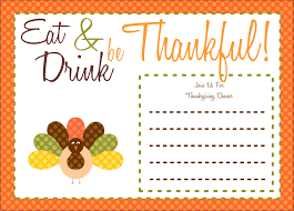 thanksgiving dinner invitation templates happy thanksgiving