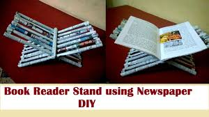 how to make book reader stand using newspaper diy newspaper