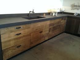meubles cuisine bois facade meuble cuisine bois brut unique cuisine bois de recup cuisine