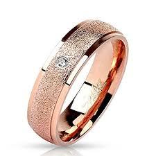verlobungsring gr e bungsa rosegold ring mit stein zirkonia kristall sandoptik schmal