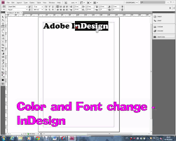 color of 2016 indesign color and font change wmv youtube