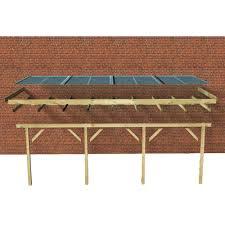 auvent en bois pour terrasse toit de terrasse bois massif autoclave karibu 622x363 cm