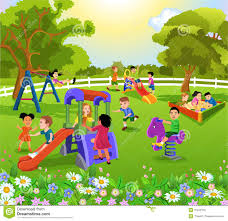children in the park stock vector image 62786135