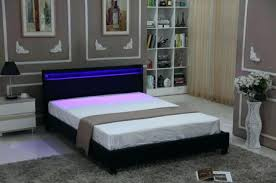 Led Bed Frame Bed Frame With Headboard Size Bedroom Leather Platform Slat