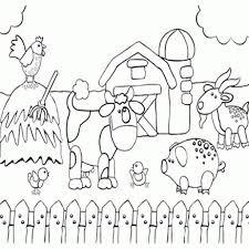 Printable Preschool Coloring Page Of Happy Farm Animals Fun Farm Color Page