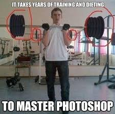 Training Meme - it takes years of training and dieting funny muscle meme image