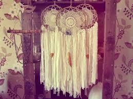 boho gypsy home decor bohemian lace dreamcatcher boho bedroom decor white and