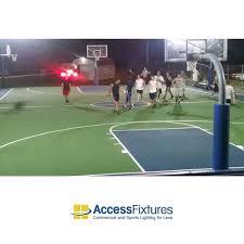 led basketball court 4 pole light basketball court lighting