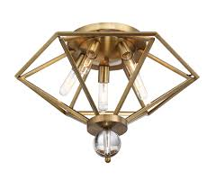 house 6 682 5 322 5 light flush mount in warm brass